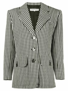 Yves Saint Laurent Pre-Owned 1980's gingham blazer - Black