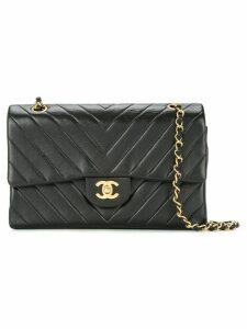 Chanel Pre-Owned v-stitch quilted shoulder bag - Black