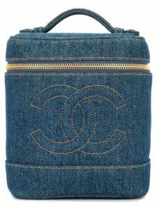 Chanel Pre-Owned denim CC vanity bag - Blue