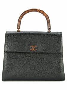 Chanel Pre-Owned CC logo handle bag - Black