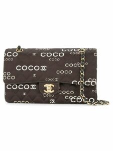 Chanel Pre-Owned CC logos double flap bag - Black