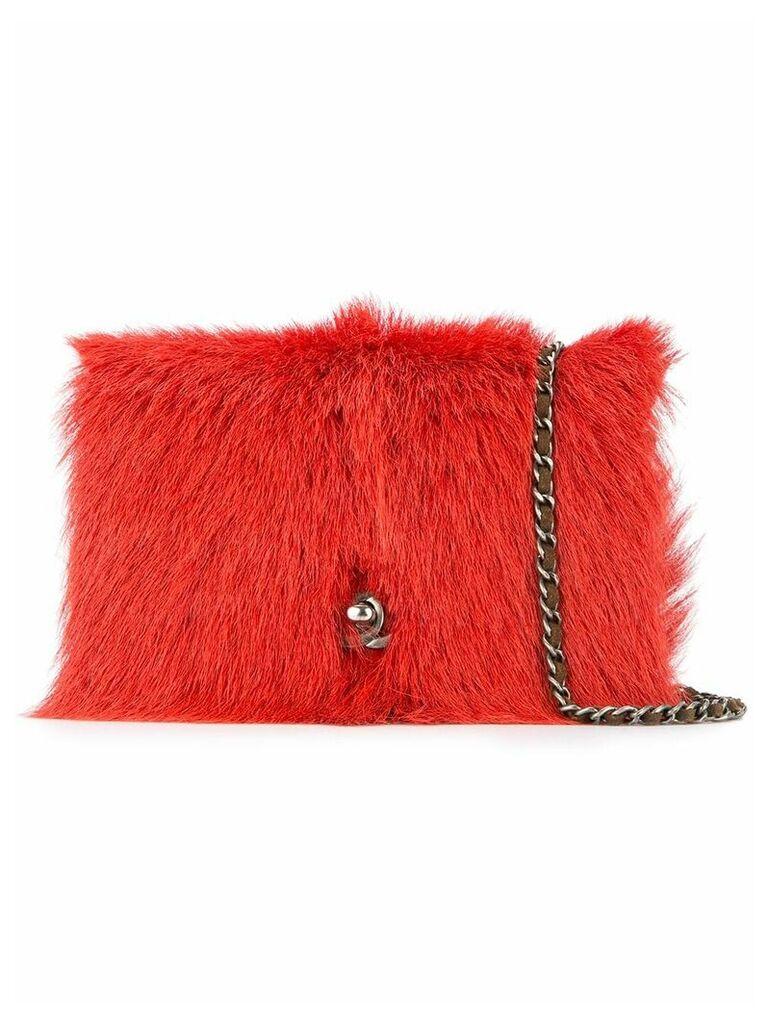 Chanel Vintage quilted CC logos shoulder bag - Red