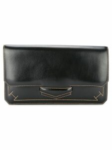 Hermès Pre-Owned 1980's square flap clutch - Black