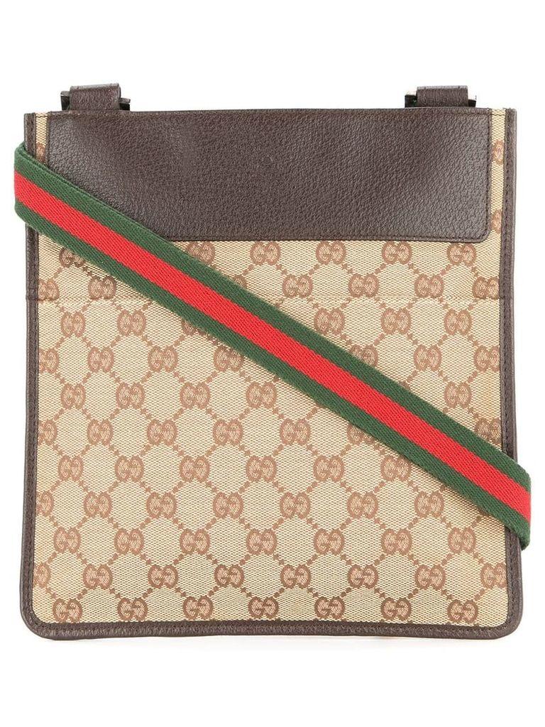 Gucci Vintage GG Shelly Line Shoulder Bag - Brown