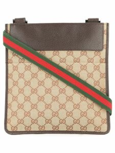 Gucci Pre-Owned GG Shelly Line Shoulder Bag - Brown