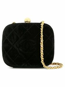 Chanel Pre-Owned 1994-1996 diamond quilted shoulder bag - Black