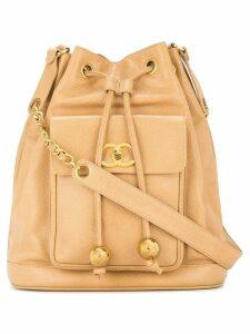Chanel Pre-Owned drawstring shoulder bag - Neutrals