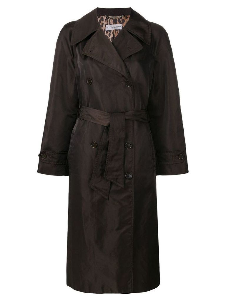 DOLCE & GABBANA PRE-OWNED loose fit midi coat - Brown