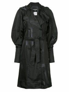 Chanel Pre-Owned CC logo double-breasted coat - Black