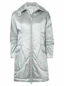 Chanel Pre-Owned metallic padded coat - Grey
