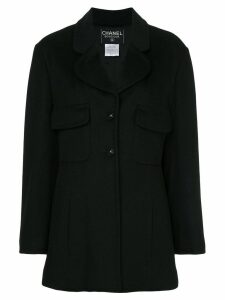 Chanel Pre-Owned single-breasted coat - Black