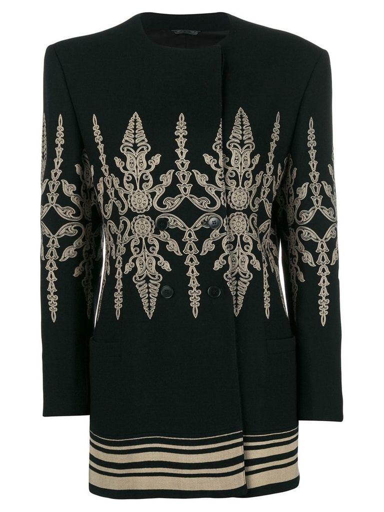 Versace Vintage double breasted coat - Black