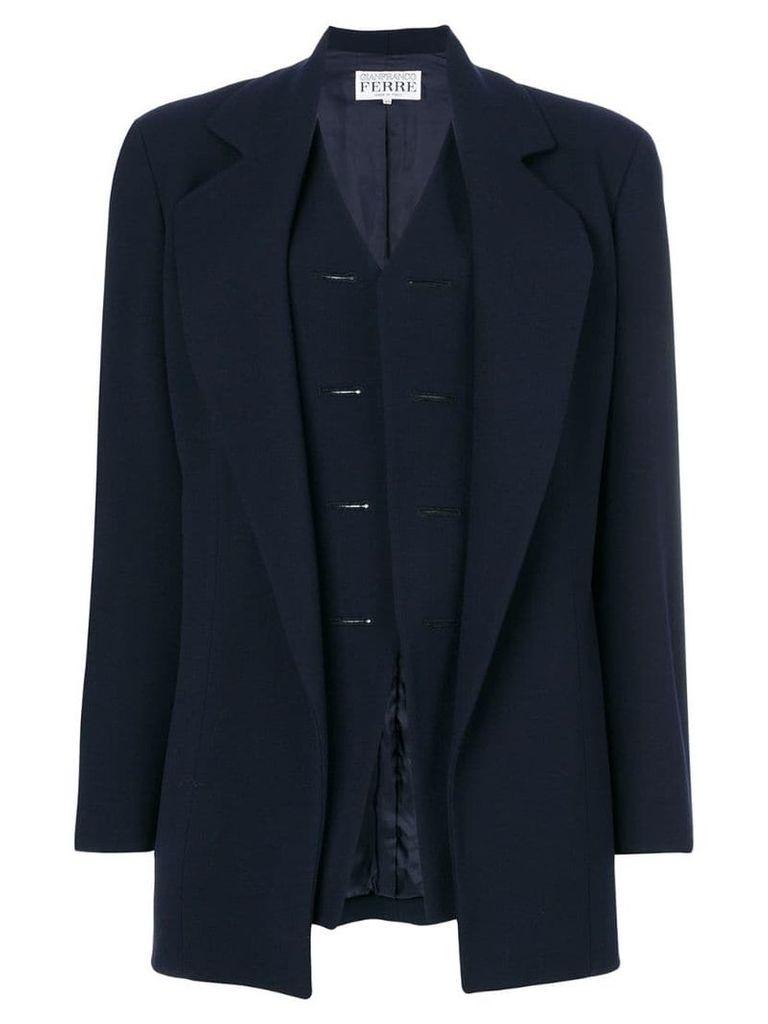 Gianfranco Ferre Vintage waistcoat coat - Blue