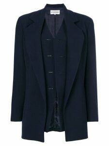 Gianfranco Ferre Pre-Owned waistcoat coat - Blue