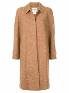 Chanel Pre-Owned loose fit midi coat - Brown
