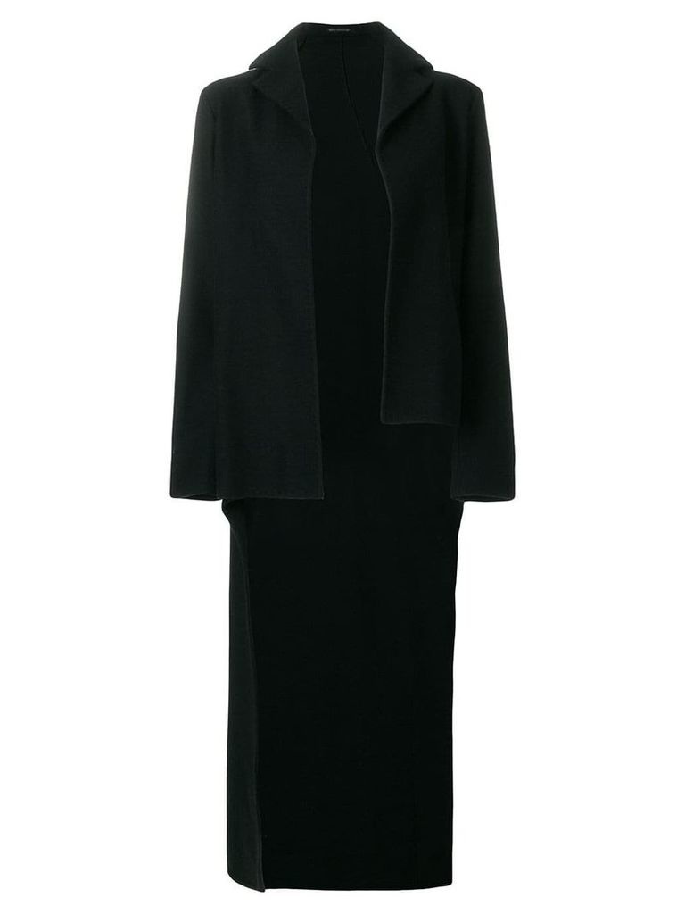 Yohji Yamamoto Vintage cashmere asymmetric tail coat - Black