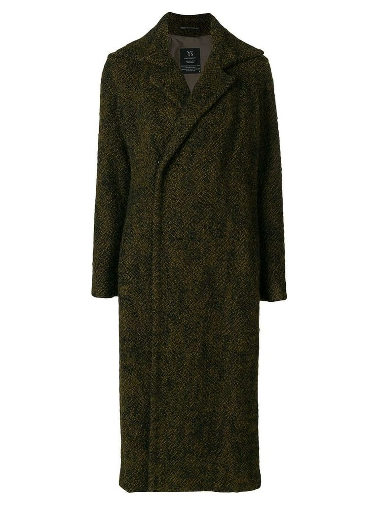 Yohji Yamamoto Pre-Owned long concealed fastening coat - Green