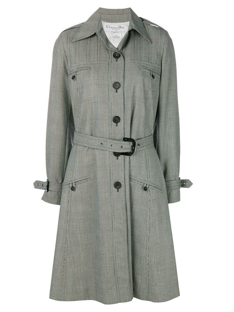 Christian Dior Vintage prince of wales coat - Grey