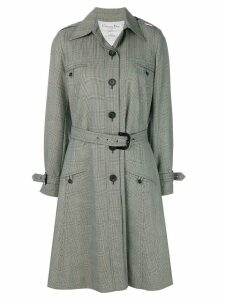Christian Dior Pre-Owned prince of wales coat - Grey