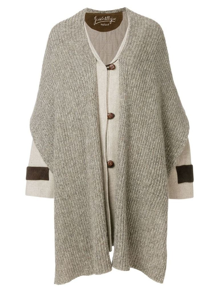 JC de Castelbajac Pre-Owned Mickey Mouse scarf coat - Neutrals
