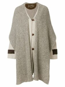 JC DE CASTELBAJAC PRE-OWNED Mickey Mouse scarf coat - Neutrals