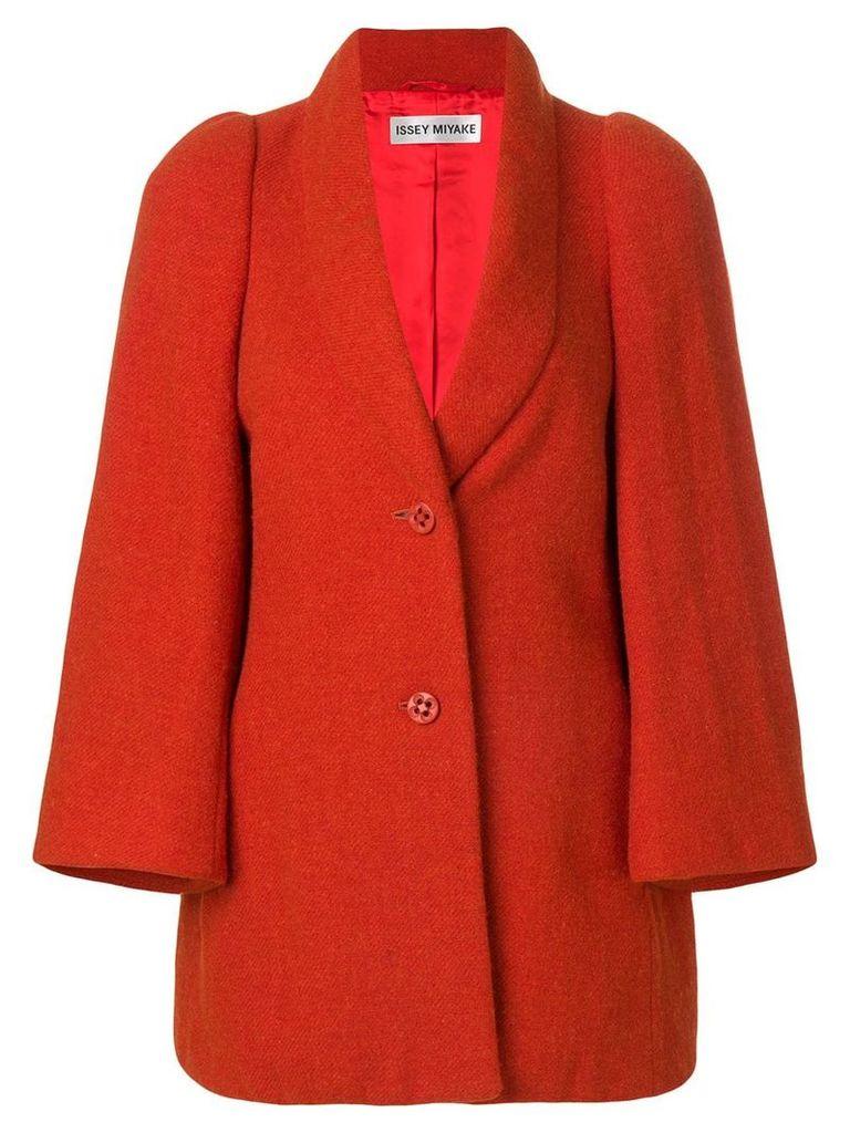 Issey Miyake Vintage shawl collar coat - Orange