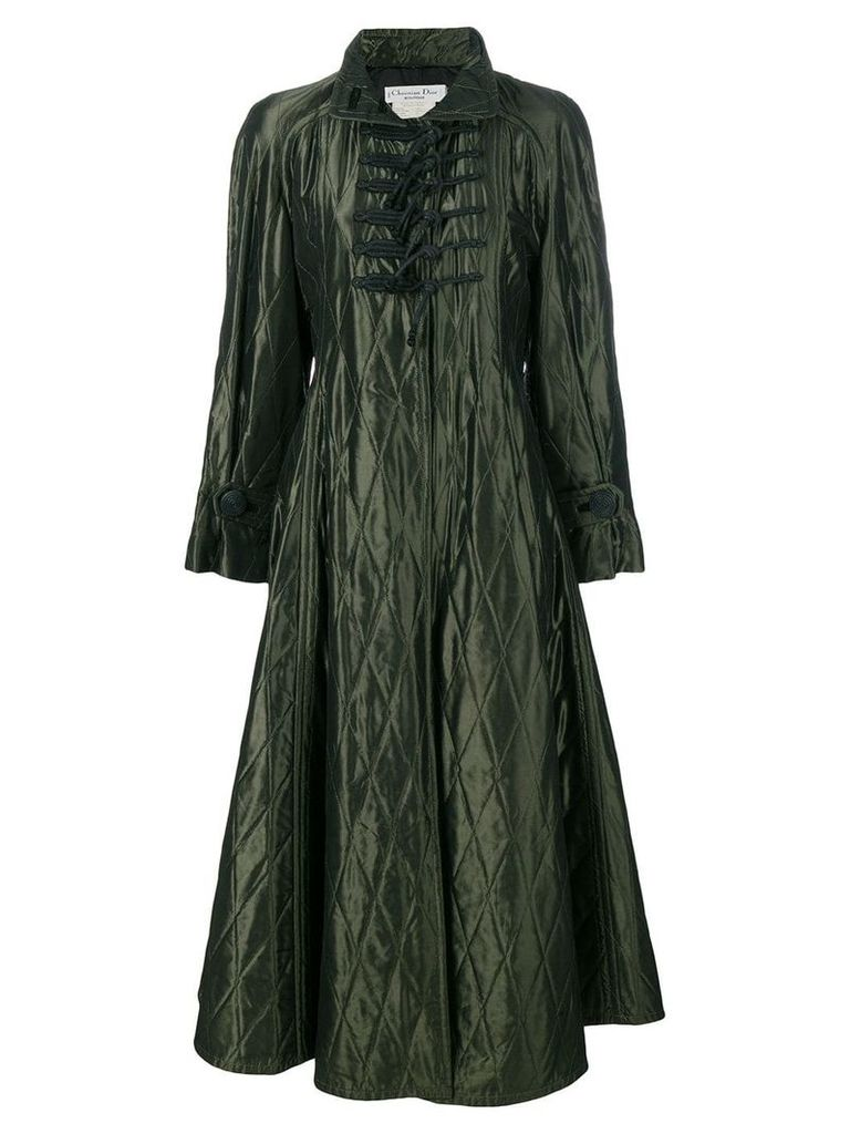 Christian Dior Vintage padded diamond quilted coat - Green