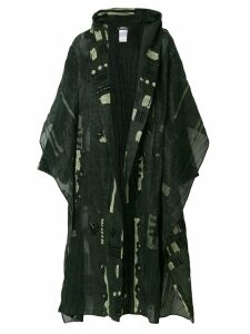 Issey Miyake Pre-Owned oversized printed coat - Green