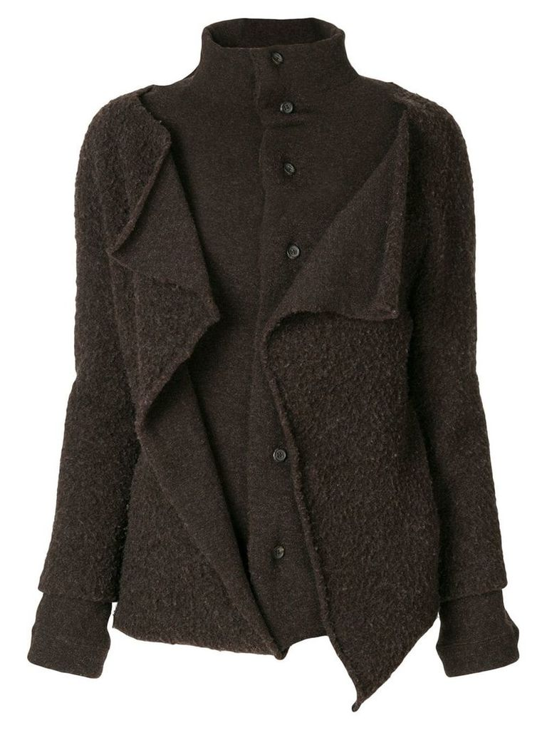 Yohji Yamamoto Vintage buttoned long train coat - Brown