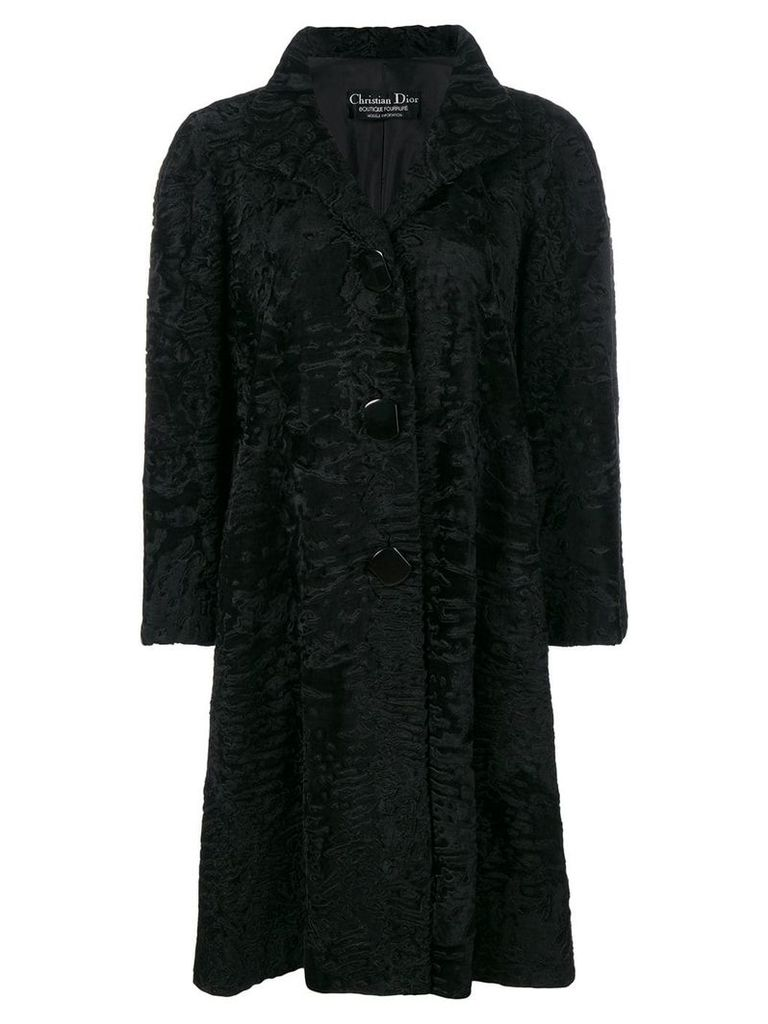 Christian Dior Vintage boxy long coat - Black
