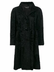 Christian Dior Pre-Owned boxy long coat - Black