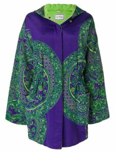 Versace Pre-Owned floral padded hooded coat - Purple