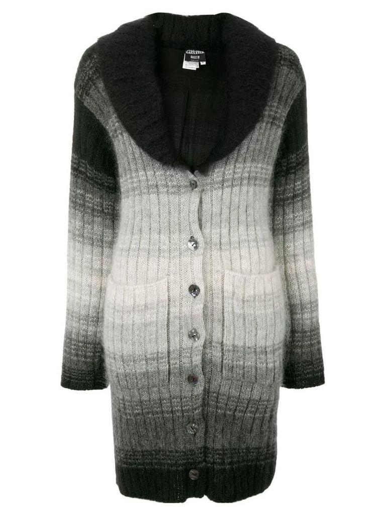 Jean Paul Gaultier Vintage degradé effect cardi-coat - Black