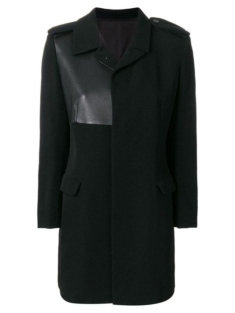 Yohji Yamamoto Vintage detail midi coat - Black
