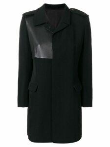 Yohji Yamamoto Pre-Owned detail midi coat - Black