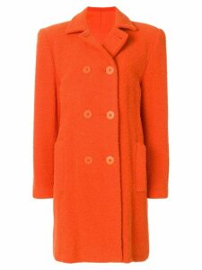 Stephen Sprouse Pre-Owned double breasted coat - Orange