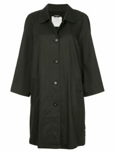 Chanel Pre-Owned minimalist midi trench coat - Black
