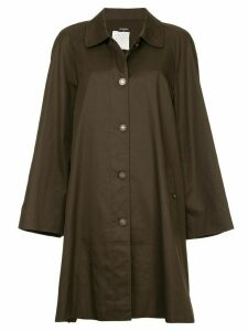 Chanel Pre-Owned minimalist midi trench coat - Brown