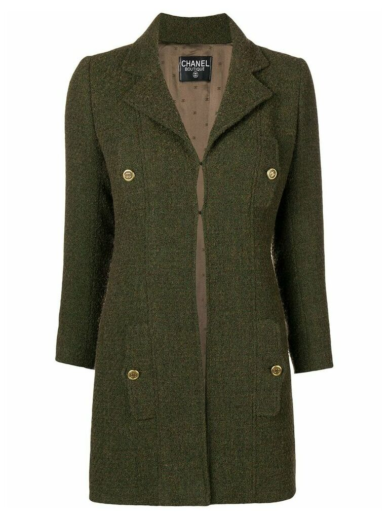 Chanel Vintage pocket detail coat - Green