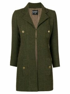Chanel Pre-Owned pocket detail coat - Green