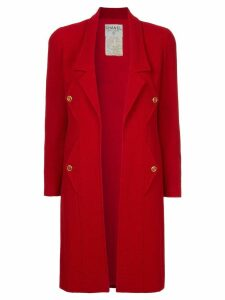 Chanel Pre-Owned open midi coat - Red