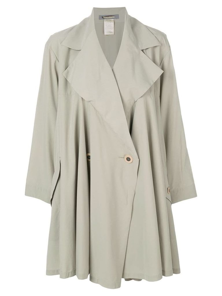 Issey Miyake Vintage single breasted trench coat - Green