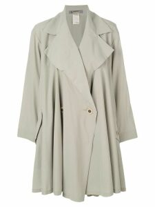 ISSEY MIYAKE PRE-OWNED single breasted trench coat - Green