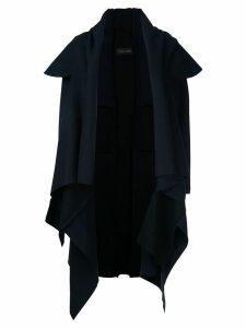 Comme Des Garçons Pre-Owned felt cross coat - Blue