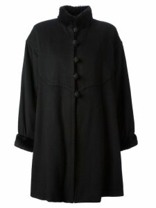 Yves Saint Laurent Pre-Owned cape style coat - Black