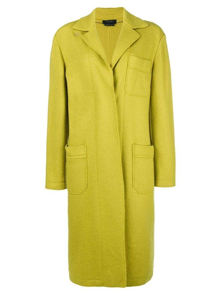 A.N.G.E.L.O. Vintage Cult concealed fastening coat - Green