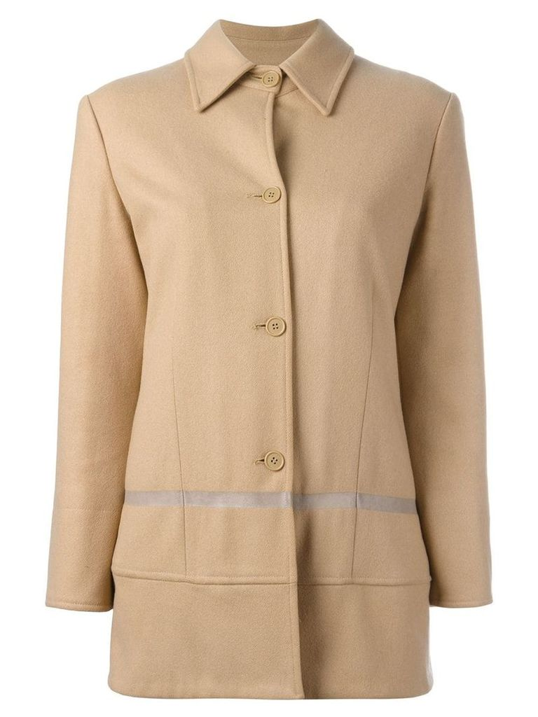 Helmut Lang Vintage single breasted coat - Neutrals