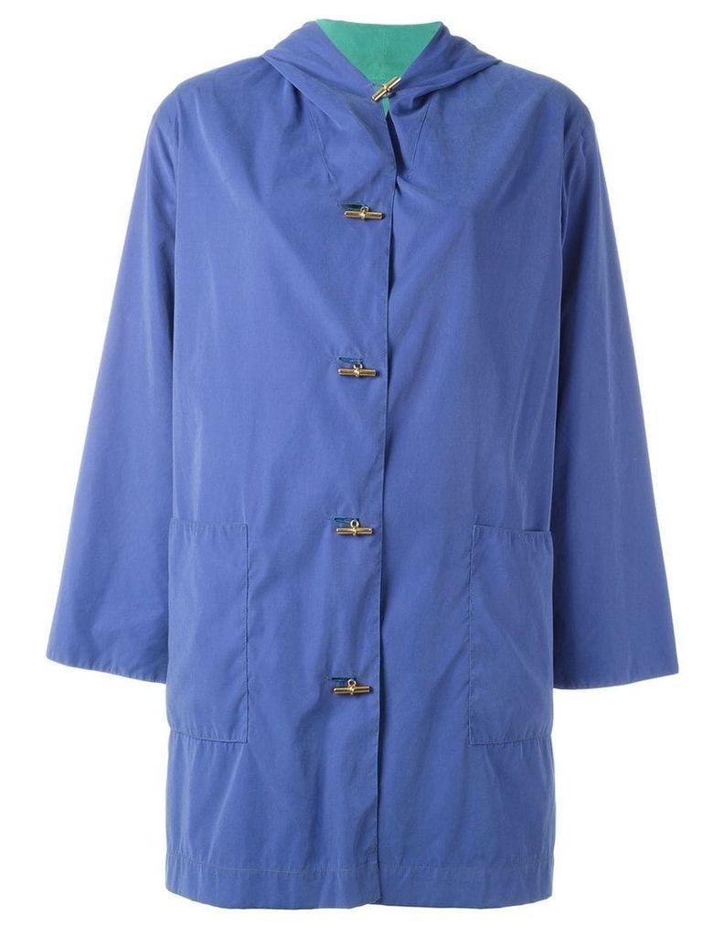 Hermès Pre-Owned hooded coat - Blue