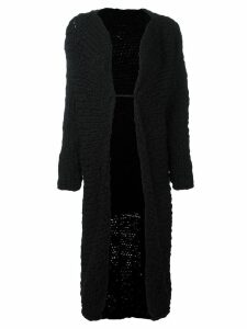 Yohji Yamamoto Pre-Owned knitted long coat - Black