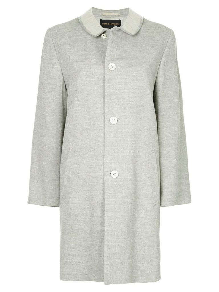 Comme Des Garçons Vintage club collar midi coat - Grey